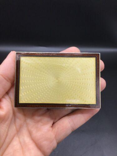 Antique silver guilloche enamel compact / vanity box by Georg Adam Scheid,Vienna