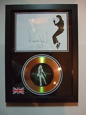 MICHAEL JACKSON  SIGNED FRAMED GOLD DISC  NEW FRAME   DISPLAY  2