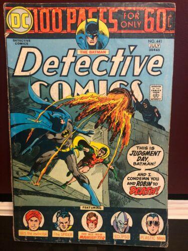 Detective Comics Comic Book #441 Batman 1st Harvey Bullock DC Comics 1974