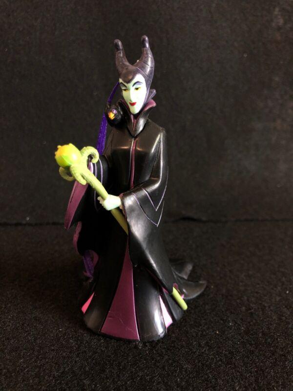 Disney Villain Maleficent with Staff & Diablo on Shoulder PVC Ornament