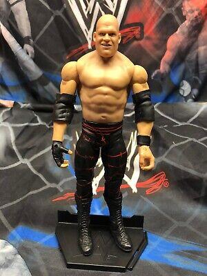 """WWE Mattel Masked Kane Basic 7"""" Unmasked Smiling Wrestling Figure WWF"""