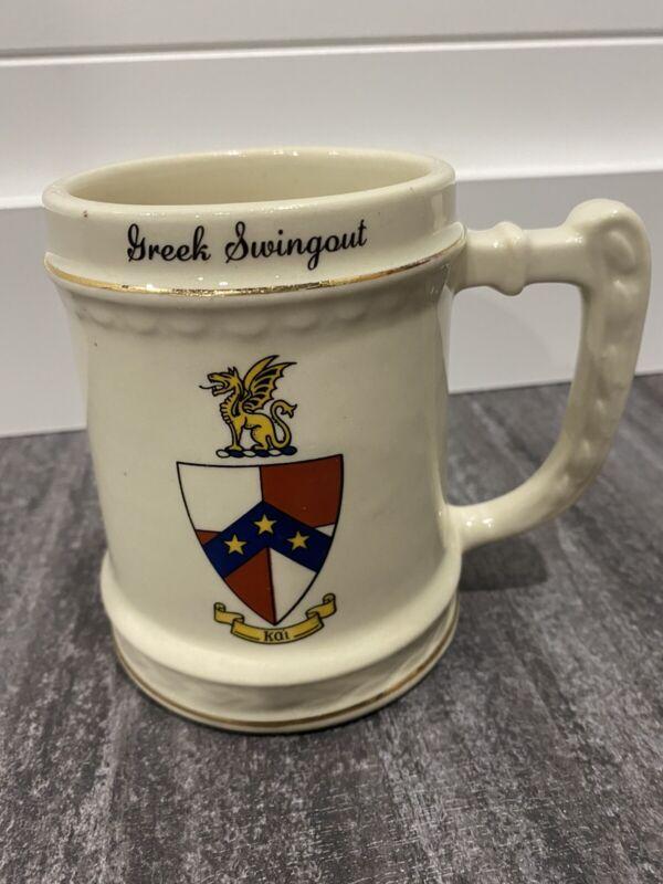 """1922 Balfour """"Greek Swingout"""" Kai Ceramic Mug Made In USA"""