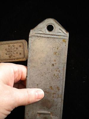Antique Sliding Punched Decorative Tin Nutmeg Spice Grator Primitive Piece - %24_1