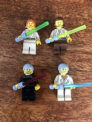 LEGO STAR WARS MINIFIGURES JEDI OBI WAN KENOBI QUI GON COUNT DOOKU LIGHT SABERS