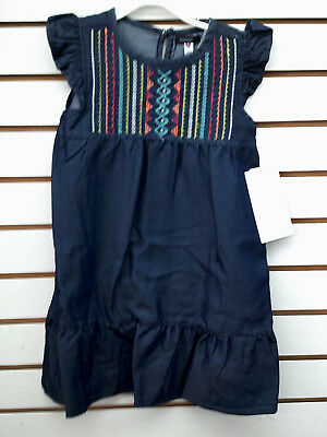 Girls Kensie $42 Denim Blue Dress Size 4 - 6X - Blue Girls Dress