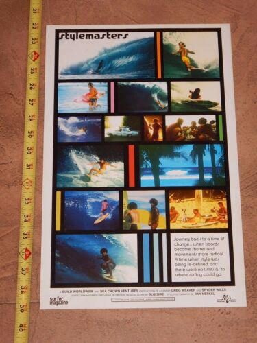 ORIGINAL 2005 STYLEMASTERS DOCUMENTARY NORTH SHORE HAWAII SURFING MOVIE POSTER
