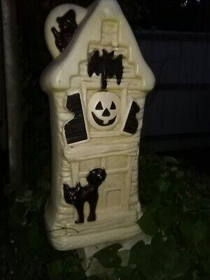 """BLOW MOLD GENERAL FOAM HALLOWEEN HAUNTED HOUSE BAT CAT WITCH Pumpkin 321/2"""" tall"""