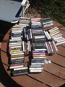 Lot of 100 cassette tapes . As is !