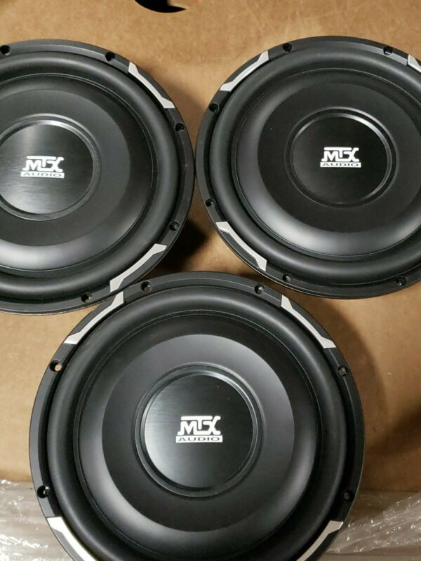 "3- MTX AUDIO 10"" SUBWOOFERS 200 RMS EACH .35 OHM SHALLOW MOUNT 3-3/8"""