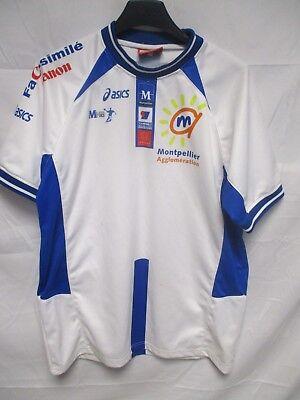 Maillot MONTPELLIER handball ASICS blanc shirt jersey trikot 164 S segunda mano  Embacar hacia Spain