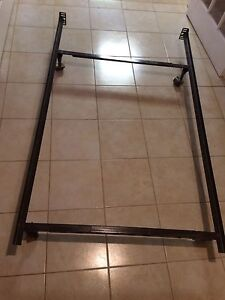 Bed frame steel adjustable single or double $50