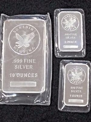 Matching Set Of Silver Bars  Last Chance At This Price  Silver Is Going Up