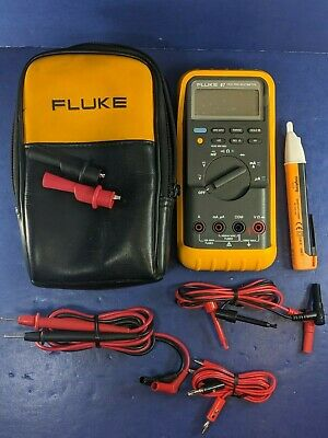 Fluke 87 Trms Multimeter Excellent Screen Protector Soft Case Accessories