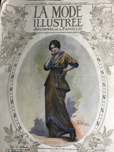 Edwardian MODE ILLUSTREE June 14,1914+ sewing PATTERN - Casino dress, Tunique