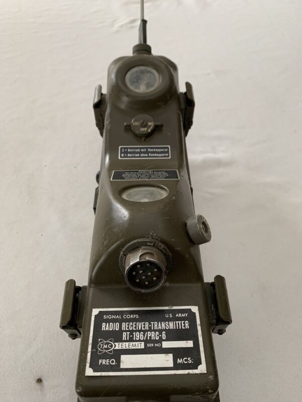 Prc6 Rt- 196 Radio Receiver Transmitter Is Signal Corp Issue With German Marking