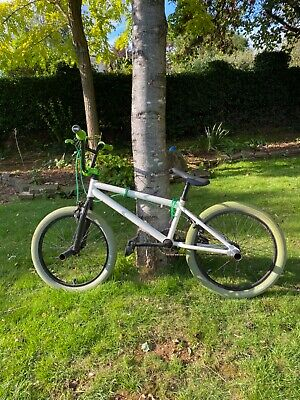 "Haro BMX white/green with custom features 21"" frame"