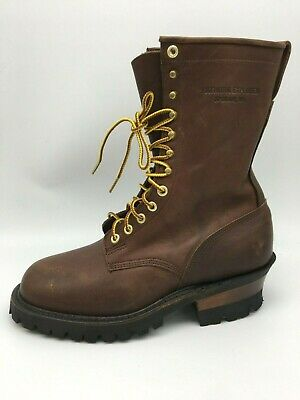 Hathorn Explorer Brown Boots Leather Jumper Packer Logger Woodland Size 8EE