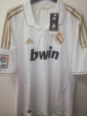 REAL MADRID 2011-2012 BNWT Bwin camiseta shirt trikot maillot maglia adidas