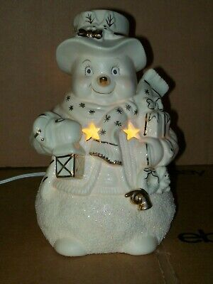 VINTAGE INTERNATIONAL BAZAAR SNOWMAN LAMP