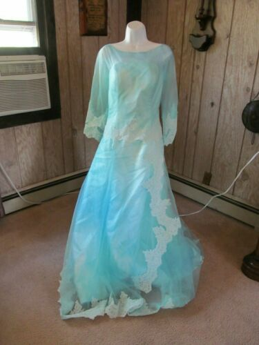 Adult Fairy Godmother Blue Gown With Eye Mask & Wand