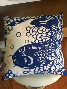 LIKE NEW Koi fish pillow from Pottery Barn