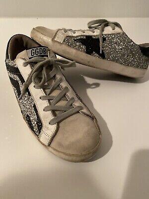 Golden Goose Deluxe Brand Superstar Glitter Sneakers Kids Size 37