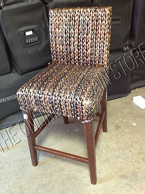 Pottery Barn woven Seagrass Barstool brown Havana Chair MEDIUM counter  ()