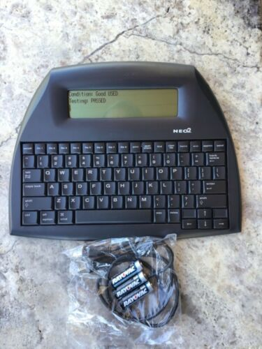 TESTED AlphaSmart NEO 2 Laptop Word Processor USB Cable FRESH BATTERIES