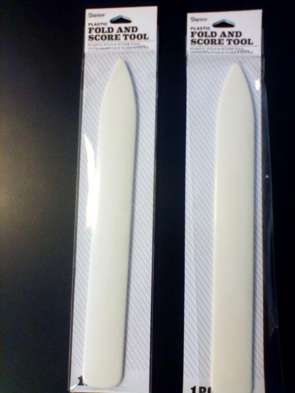 Darice Plastic Fold and Score Tool, Framing tool, 2 Pcs NEW