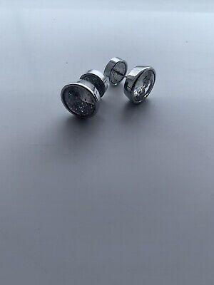 Michael Kors Crystal Stud Earrings Silver