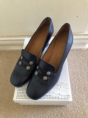 Hispanitas Sauvage/Vernice -13 Blue Leather Heeled Shoes Size EUR 42 Uk 8