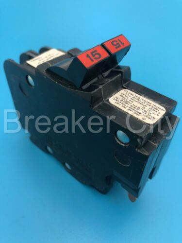 Federal Pacific FPE 15 Amp 2 Pole Circuit Breaker 120/240V Type NC NC215 StabLok