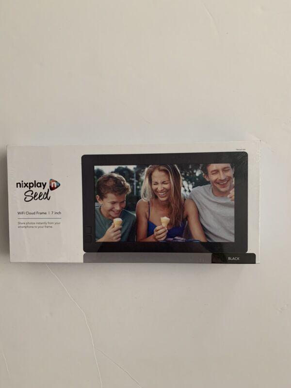 """Nixplay Seed WiFi Cloud Frame 7"""" INCH Black New"""