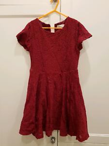 06679ada3 Girls maroon lace and elastine Zara dress size 11-12 | Kids Clothing ...