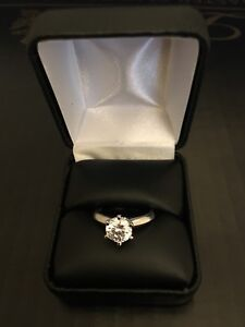 1 5 Ct Round Cut Diamond Solitaire En Ement Ring 14k White Gold Enhanced