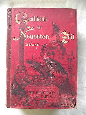 Weltgeschichte Geschichte der neuesten Zeit altes antikes Buch 1892 v. T. Flathe