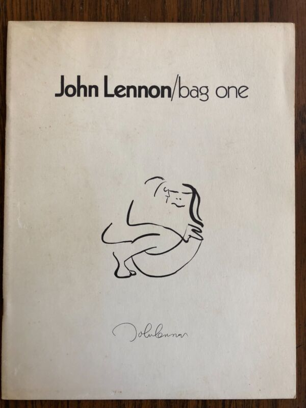 JOHN LENNON BAG ONE LEE NORDNESS GALLERIES 1970 CATALOG YOKO ONO