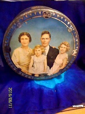 "1937 ADAMS CORONATION ROYAL FAMILY 10"" TIN KING GEORGE VI, ELIZABETH , MARGARET"
