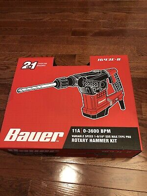 Bauer Rotary Hammer Drill Sds Max-type Pro Variable Speed 11a New
