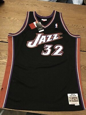 194a41ea558f 100% Authentic Vintage Karl Malone Utah Jazz Mitchell   Ness Jersey XL