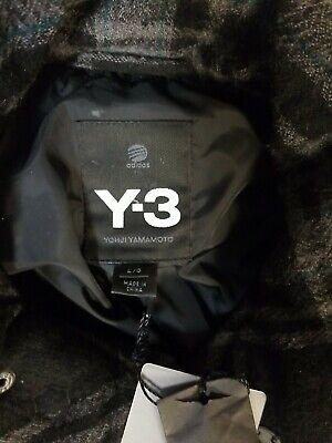 Adidas Y-3 Yohji Yamamoto Wool Jacket black/grey plaid sz large