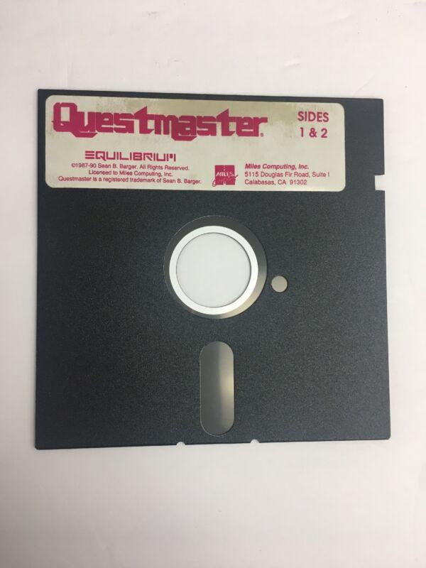 RARE! Questmaster Equilibrium floppy disc Miles Computing Commodore