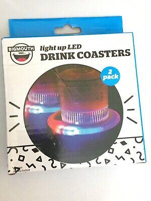 Light Up Coasters ((Lot of 2) LED Light Up Drink Bottle Coasters 4 Coasters Total ORIGINAL:)