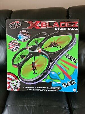 XBladez Stunt RC Quadcopter Drone missile & Water Blaster