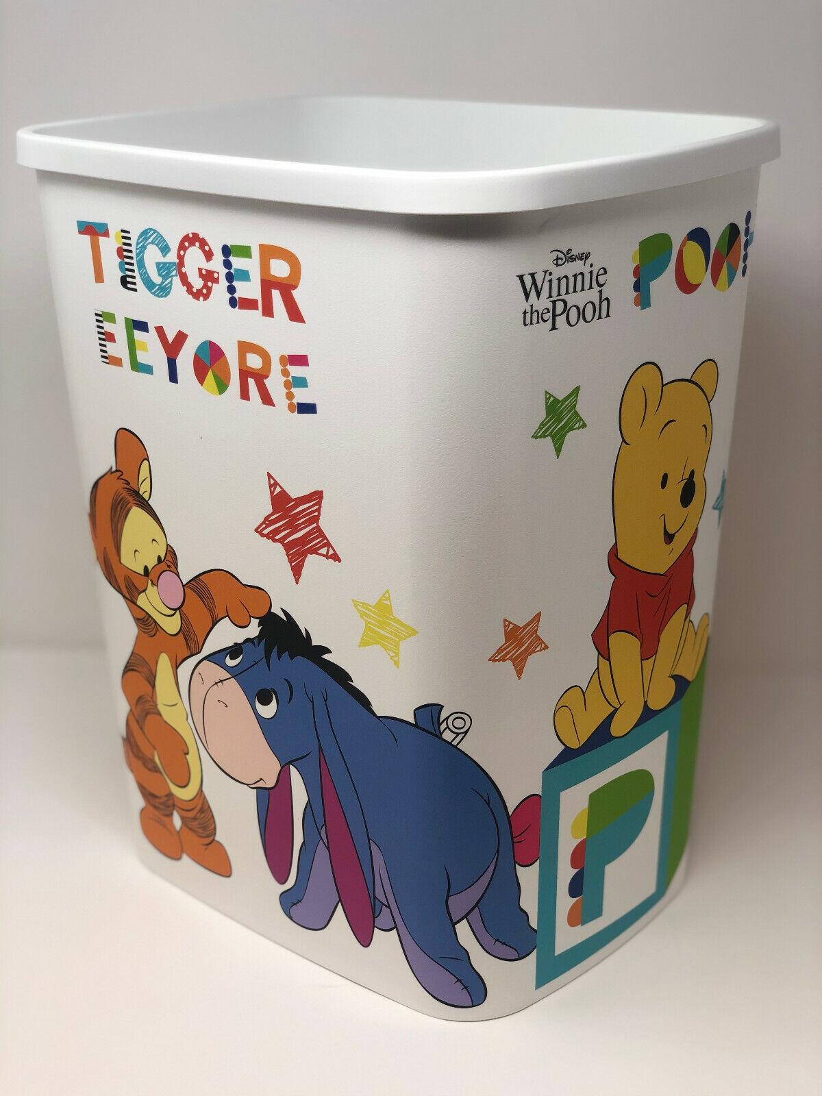 Hochwertiger Curver Papierkorb Winnie the pooh  25 Liter / 39 cm hoch