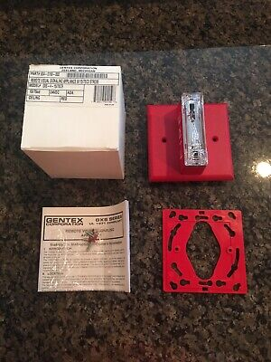 New Gentex Fire Alarm Strobe Model Gxs-4-1575-cr Red Ceiling Mount