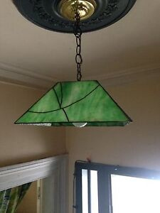 Vintage Stained Glass Pendant Hanging Light