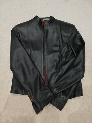 Marks & Spencers Women's Vintage Black Leather Jacket Good Condition