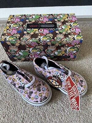 Vans Nintendo Princess Peach Editiin Canvas Trainers UK 6 Toddler Size BRAND NEW