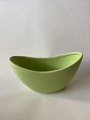 80s Mint Green Vintage Ceramic Vase Half Moon Retro Home Mod Space Age Cute Home